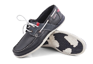Falkland - Soft navy/jeans Boat Shoe (Man)